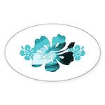Hibiscus Surf - Sticker (Oval 10 pk)