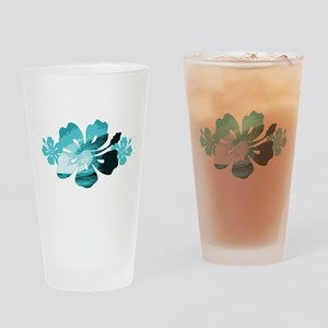 Hibiscus Surf - Drinking Glass