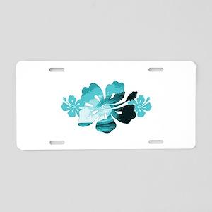 Hibiscus Surf - Aluminum License Plate