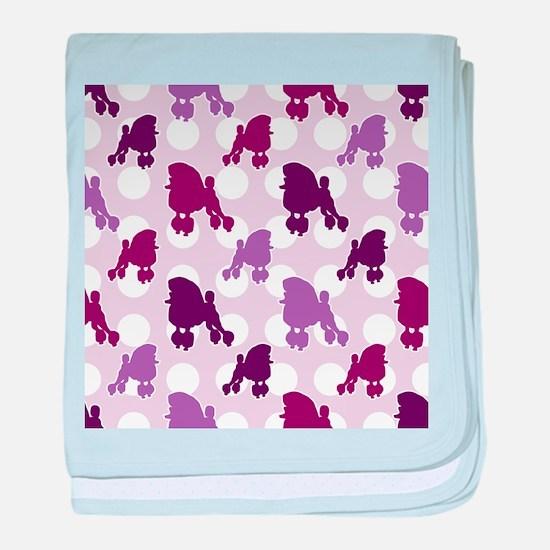 Purple Poodle Polka Dot baby blanket