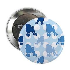 Blue Poodle Polka Dot 2.25
