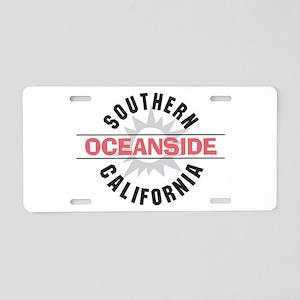 Oceanside California Aluminum License Plate
