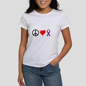 Peace, Love, Awareness Women's T-Shirt