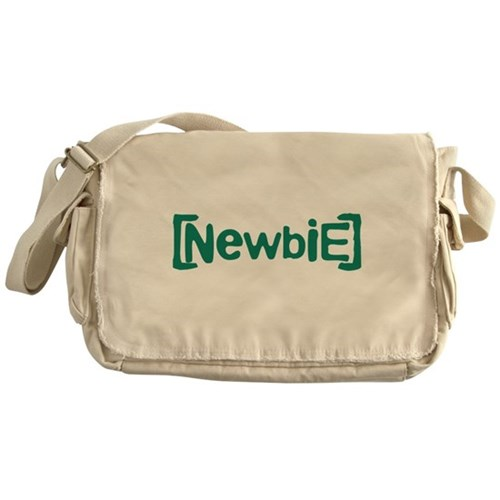 Newbie Canvas Messenger Bag