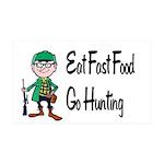 hunting 38.5 x 24.5 Wall Peel