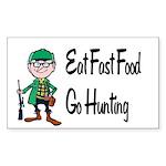 hunting Sticker (Rectangle 10 pk)