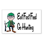 hunting Sticker (Rectangle)