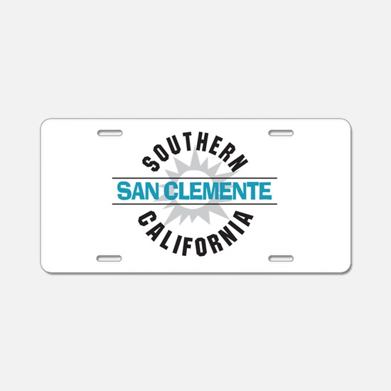 San Clemente California Aluminum License Plate