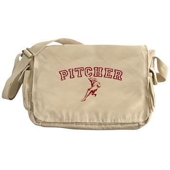 Pitcher - Red Canvas Messenger Bag