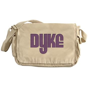 Purple Dyke Canvas Messenger Bag