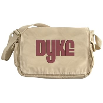 Pink Dyke Canvas Messenger Bag