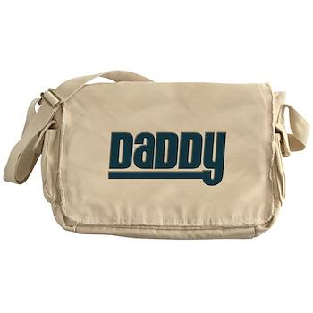 Daddy - Blue Canvas Messenger Bag
