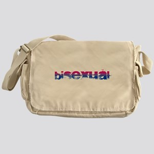 Grungy Bisexual Canvas Messenger Bag