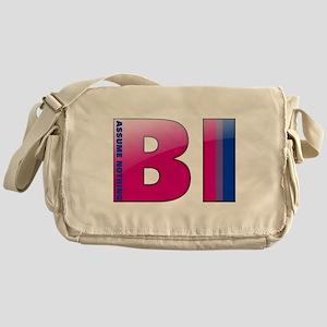 BI - Assume Nothing Canvas Messenger Bag