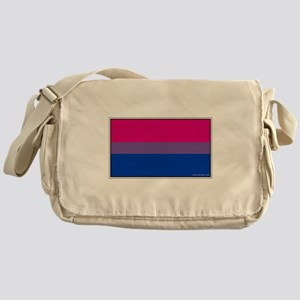 Bi-Sexual Pride Flag Canvas Messenger Bag