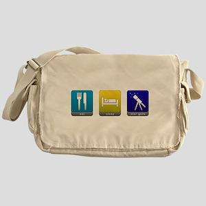 Eat, Sleep, Stargaze Canvas Messenger Bag