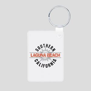 Laguna Beach California Aluminum Photo Keychain