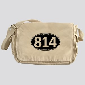 Black Erie, PA 814 Canvas Messenger Bag