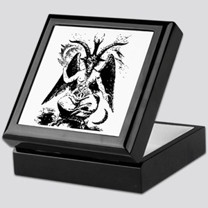 Vintage Black Baphomet Keepsake Box