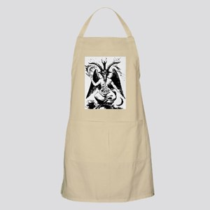 Vintage Black Baphomet Light Apron