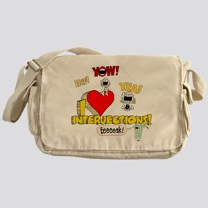 I Heart Interjections Canvas Messenger Bag