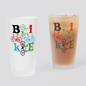 Four Bikes Drinking Glass