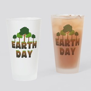 Earth Day Trees Drinking Glass