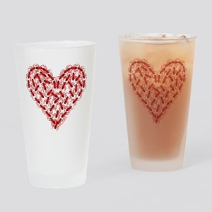 Red Ants Heart Drinking Glass