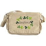 Bagpipe Shamrock Oval Messenger Bag