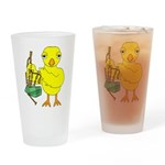 Bagpipe Chick Drinking Glass