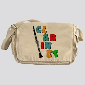 Colorful Clarinet Messenger Bag