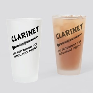 Clarinet Genius Drinking Glass