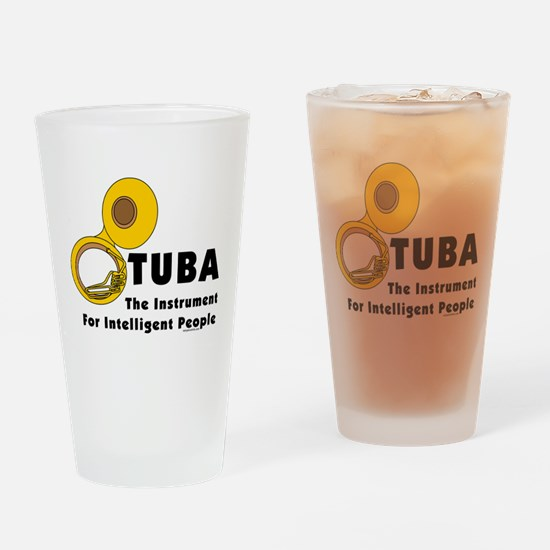 Tuba Genius Drinking Glass