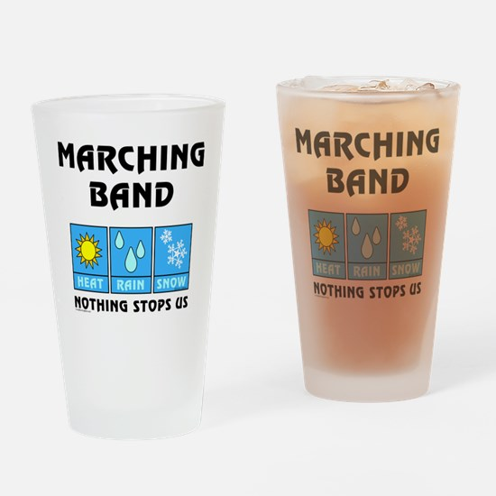 Marching Band Weather Drinking Glass