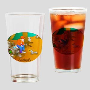 Geocaching Blues Drinking Glass