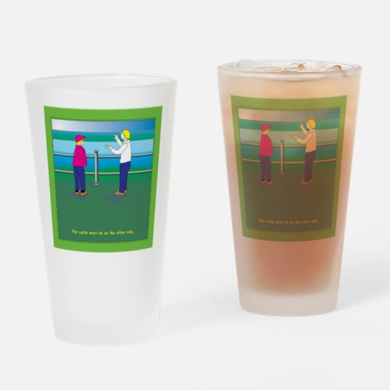 On the Wrong Side Drinking Glass