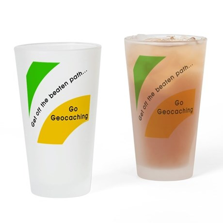 Geocaching Off the Path Drinking Glass