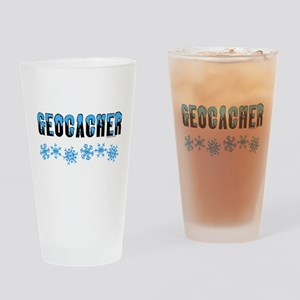 Snow Capped Geocacher Drinking Glass