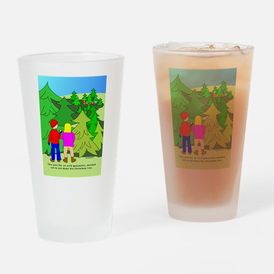Geocaching Christmas Drinking Glass