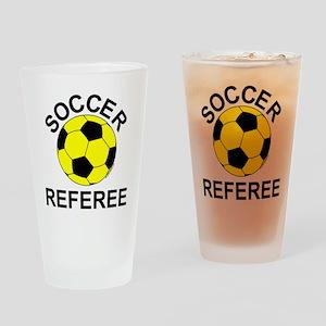 Soccer Referee Drinking Glass