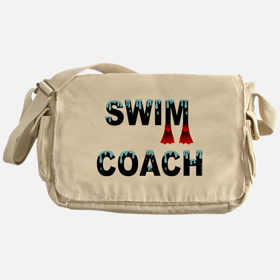 Swim Coach Black Messenger Bag