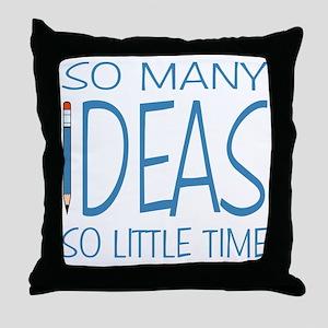 Writing Ideas - Blue Pencil Throw Pillow