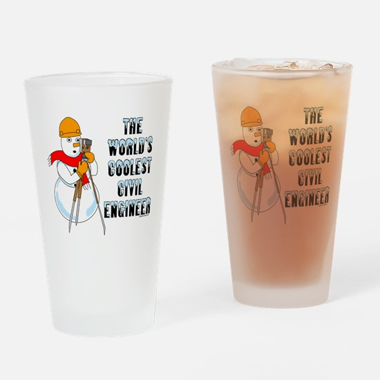 Coolest Civil Engineer Drinking Glass