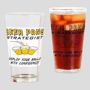 Beer Pong Strategist Drinking Glass