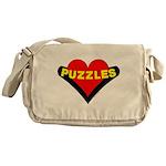 Puzzles Heart Messenger Bag