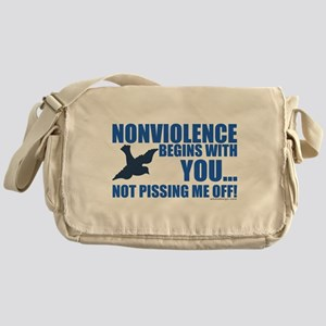 Nonviolence Begins with You.. Canvas Messenger Bag