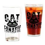 Cat Fanatic Drinking Glass