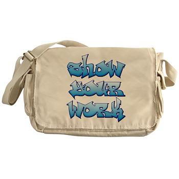 Show Your Work Graffiti Canvas Messenger Bag