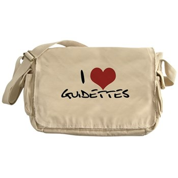 I Heart Guidettes Canvas Messenger Bag