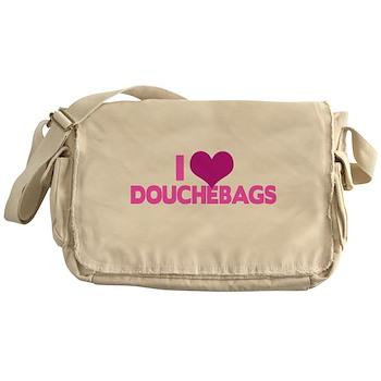 I Heart Douchebags Canvas Messenger Bag